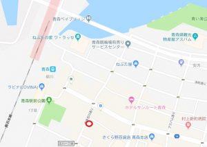 青森の本サロ「グリーン」の地図