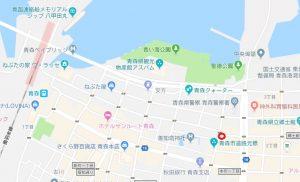 青森の本サロ「ラブラブ」の地図