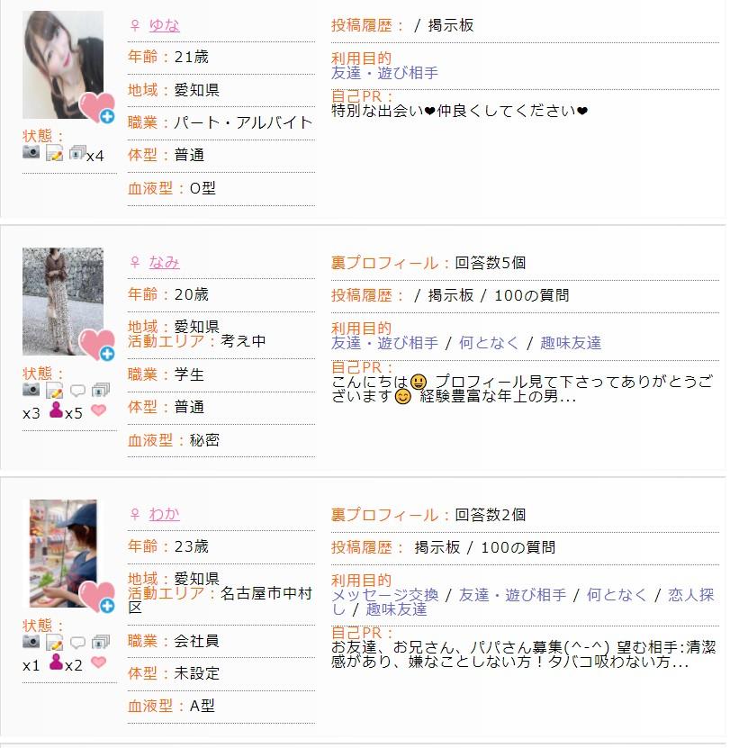 名古屋で出会い系サイトに登録する女の子達