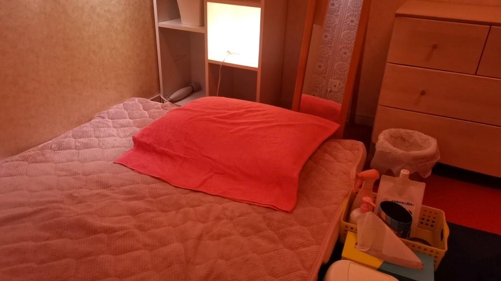 松島新地のヤリ部屋の布団