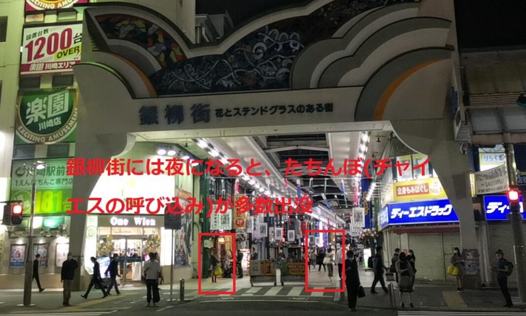川崎の立ちんぼスポット「銀柳街」