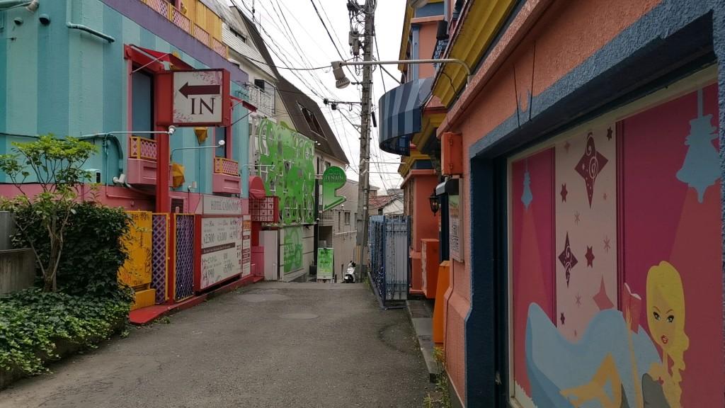 円山町のラブホ街